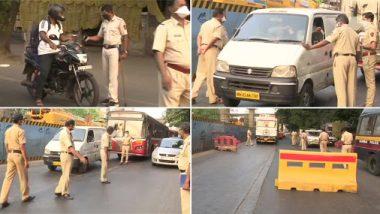 Lockdown: संचारबंदीत वाहनांची वाहतूक करणाऱ्या नागरिकांची मुंबई पोलिसांकडून कसून चौकशी