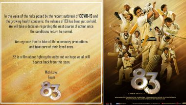 COVID-19 मुळे कबीर खान दिग्दर्शित '83' प्रदर्शन लांबणीवर, रणवीर सिंह ने सोशल मिडियावरून दिली माहिती