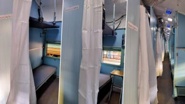 Coronavirus: कोरोना व्हायरसचा प्रतिकार करण्यासाठी भारतीय रेल्वे गाड्यांमध्ये विलगीकरण कक्ष तयार; पहा फोटो