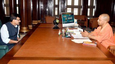 उद्धव ठाकरे यांच्या 7 मार्चच्या प्रस्तावित अयोद्धा दौर्याच्या पार्श्वभूमीवर संजय राऊत यांनी घेतली UP मुख्यमंत्री योगी आदित्यनाथ यांची भेट