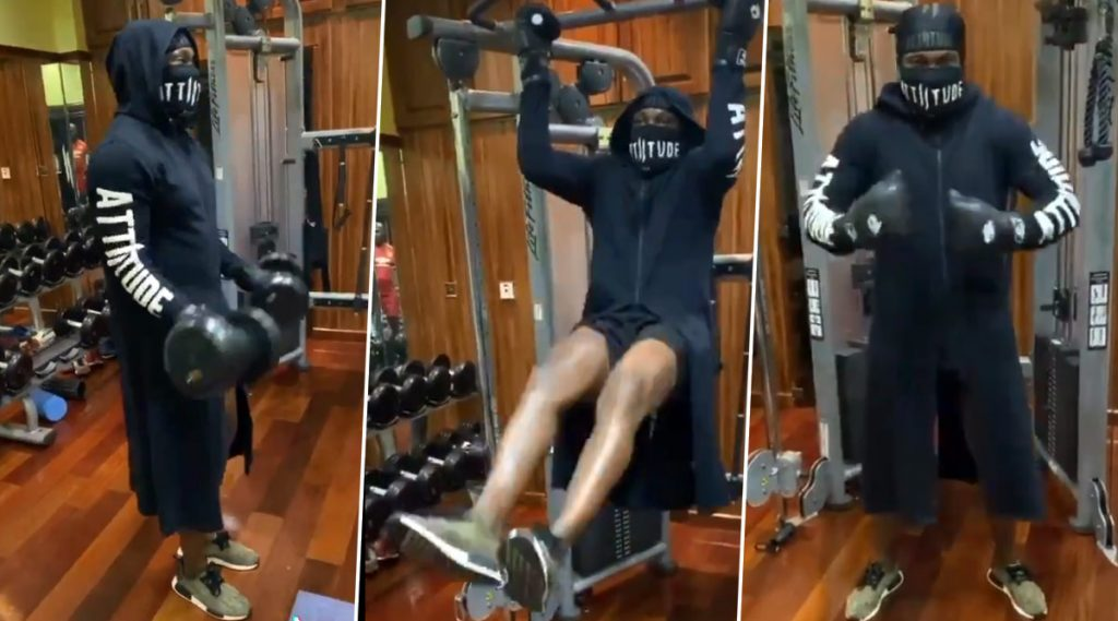 Video: क्रिस गेलने स्वीकारले #StayAtHome चॅलेंज, सुपर हिरो सूट परिधान करून जिममध्ये केली कसरत