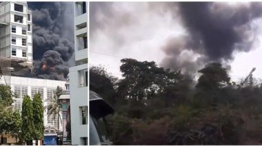 नवी मुंबई: नेरुळ येथील डी वाय पाटील स्टेडीयम जवळ आग लागल्याचे वृत्त