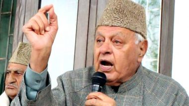 जम्मू-कश्मीर सरकारकडून डॉ. फारूक अब्दुल्ला यांच्यावरील नजरकैद संपवण्याचे आदेश
