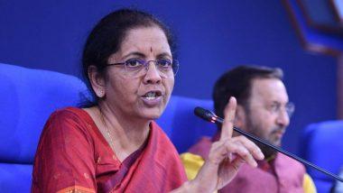 भारतामध्ये कलम 360 अंतर्गत आर्थिक आणीबाणी लागू करण्याचा विचार नाही: अर्थमंत्री निर्मला सीतारमण