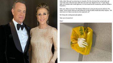 प्रसिद्ध हॉलीवूड अभिनेता Tom Hanks आणि पत्नी Rita Wilson यांना कोरोना विषाणूची लागण