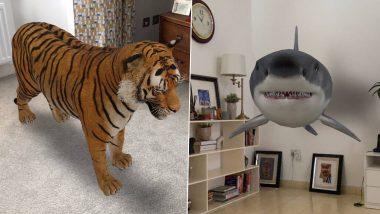 Google 3D Animals: 'या' Android आणि  iOS स्मार्टफोन मध्ये  Panda, Tiger, Lion, Shark, Penguin पाहू शकाल अगदी तुमच्या जवळ!