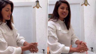 प्रियंका चोप्रा हिने पूर्ण केले Safe Hand Challenge; व्हिडिओ शेअर करत अमिताभ बच्चन, निक जोनस सह परिणीति चोप्रा हिला केले नॉमिनेट
