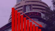 Today Share Market: शेअर बाजारात मोठी घसरण, सेन्सेक्स 456 अंकांनी तर निफ्टी 152 अंकावर झाला बंद