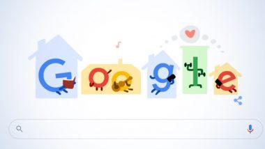 Coronavirus Tips Google Doodle: कोरोना व्हायरस जागतिक आरोग्य संकटाचा मुकाबला करण्यासाठी 'घरी रहा सुरक्षित रहा' आवाहन करणारं खास गूगल डूडल