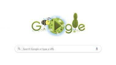 वसुंधरा दिन 2020: पृथ्वी दिनाच्या 50 व्या वर्धापनदिना निमित्त Google ने खास Doodle बनवून मधमाशांसाठी केले समर्पित
