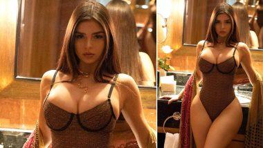 Demi Rose Topless Photos: अमेरिकन हॉट मॉडल डेमी रोज चा जाळीदार ड्रेसमधील बोल्ड लूक पाहून चाहतेही चक्रावले, फोटोला मिळाले 4 लाखाहून अधिक लाईक्स