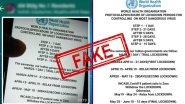 Coronavirus Lockdown बाबत WHO Protocol वेळापत्रकाबाबतचे  WhatsApp Message खोटे! जाणून घ्या व्हायरल मेसेज मागील सत्य