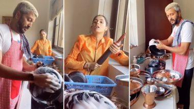 Lockdown मुळे घरी असलेल्या रितेश देशमुख कडून पत्नी जेनेलिया ने करुन घेतले 'हे' काम, Watch Viral Tik Tok Video