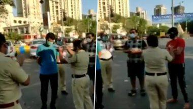 ठाणे: Coronavirus Lockdown दरम्यान मॉनिंग वॉकसाठी बाहेर पडलेल्या नागरिकांची पोलिसांकडून 'आरती'! (Watch Video)
