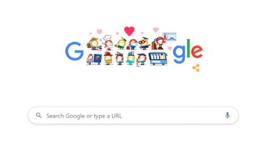 कोरोना विषाणूशी लढणाऱ्या सर्व मदतगारांना धन्यवाद देणारं खास Google Doodle!