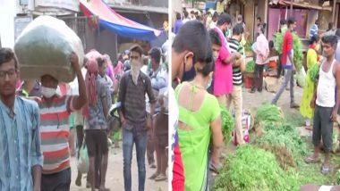 मुंबई: Coronavirus Lockdown मध्ये संचारबंदी नियमांचा फज्जा; दादर  भाजी मंडई मध्ये गर्दी कायम