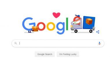 कोराेना विषाणूशी लढणाऱ्या मदतगारांना धन्यवाद  देण्यासाठी Google ने साकारलं Packaging, Shipping, and Delivery Workers साठी खास Doodle