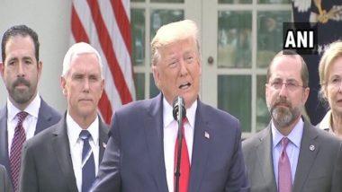 US President Donald Trump यांनी WHO ला दिली जाणारी आर्थिक मदत थांबवण्याचे दिले आदेश; चीनमधून कोरोना व्हायरस फैलावाची स्थिती 'Cover Up'केल्याचा जागतिक आरोग्य संघटनेवर  आरोप