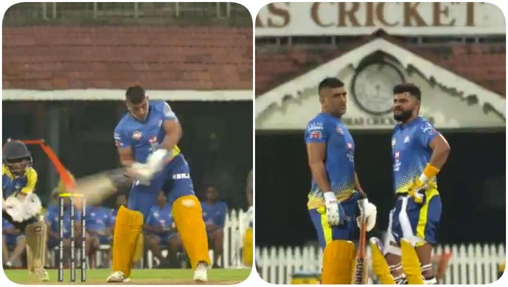 IPL 2020 पूर्वी CSK सराव सत्रात एमएस धोनी, सुरेश रैना यांनी ठोकले षटकार, चेन्नई सुपर किंग्सने शेअर केला Unseen व्हिडिओ