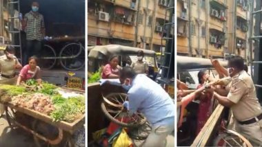 मुंबई: मानखुर्द मधील Containment Area मध्ये भाजी विक्री करत असल्याने महिला आणि पोलिसात जुंपली (Watch Video)