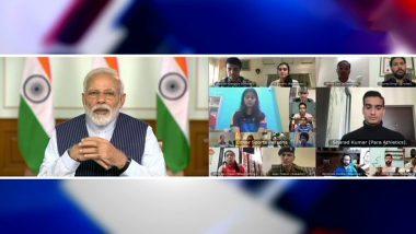 पंतप्रधान नरेंद्र मोदी यांनीक्रीडा क्षेत्रातील 40 खेळाडूंसोबत घेतली बैठक, भारतातील कोविड-19 स्थितीवर सुरु आहे चर्चा