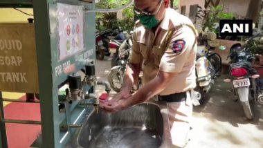 मुंबई: चुनाभट्टी पोलिस स्टेशन बाहेर Hand Washing Machine ची सोय; COVID 19 संकटात पोलिसांसाठी राष्ट्रीय कौशल्य प्रशिक्षण संस्थेचा स्त्युत्य उपक्रम