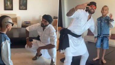 शिखर धवनने 'मस्तीखोर' मुलगा जोरावर समवेत 'Daddy Cool' गाण्यावर डान्स, पाहा मजेदार Video