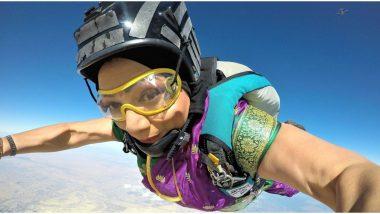 Saree Challenge: Skydiver शितल महाजन यांचे साडी चॅलेंज, फोटो पाहू फॉलोअर्स थक्क