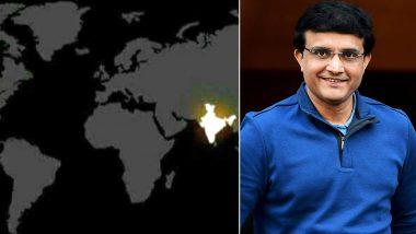 फेक न्यूजच्या जाळ्यात अडकले सौरव गांगुली, भारताची एकता दाखवण्यासाठी शेअर केलाबनावट NASA फोटो