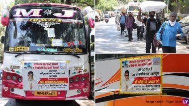Amitabh Bachchan Helps Migrants:  सुपरस्टार अमिताभ बच्चन यांच्या वतीने मजुरांना मूळगावी नेणाऱ्या 10 बस हाजी अली येथून उत्तर प्रदेश साठी रवाना (See Photos)