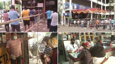 नागपूर: ग्रामीण भागातील दारूची दुकाने उघडल्यानंतर तळीरामांच्या दुकानांसमोर लांबच लांब रांगा