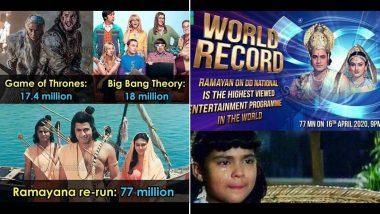 Ramayan Funny Memes & Jokes: रामायण मालिकेच्या 'वर्ल्ड रेकॉर्ड' नंतर सोशल मीडियावर मीम्स आणि जोक्सचा वर्षाव!