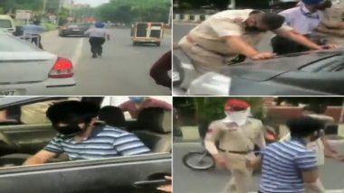 पंजाब मधील जालंधर येथे COVID-19 Lockdown चे नियम मोडत कारचालकडून पोलिस अधिकाऱ्याची बोनेटवरुन फरफट (Watch Video)