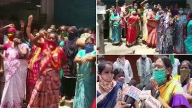 Lockdown: राज्य सरकारच्या निर्णयावरून आंध्र प्रदेशातील महिला आक्रमक; दारू विक्रीच्या विरोधात रसत्यावर उतरून केले आंदोलन