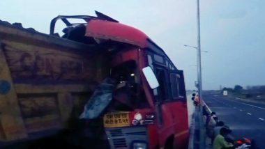 धक्कादायक! यवतमाळ मध्ये एसटी बस आणि ट्रकची  धडक, भीषण अपघातात 4 स्थलांतरित मजूर ठार तर 15 जखमी