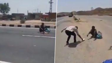 उपासमारीमुळे त्याने खाल्लं रस्त्यावर पडलेल्या मृत जनावराचं मांस; पहा मन हेलावून टाकणारा व्हायरल व्हिडिओ