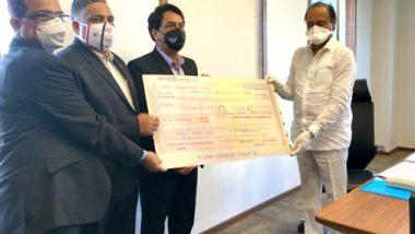 कोरोना विरोधातील लढ्यासाठी युनियन बँक ऑफ इंडियाच्या अधिकारी व कर्मचाऱ्यांतर्फे 30 लाख रुपयांचा निधी