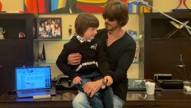 I For India Concert साठी शाहरुख खान ने गायलं गाणं; लेक अबराम म्हणतो, बस करा बाबा! (Watch Video)