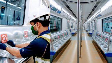 Mumbai Metro चा प्रवास Post Lockdown सुरक्षित व्हावा यासाठी आसन व्यवस्थेमध्ये होणार बदल; अशी सुरू आहे तयारी (View Pics)