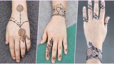 Easy and Quick Mehndi Designs For Eid al-Fitr 2020: ईद उल-फित्र महोत्सवासाठी 'हे' आयडिया वापरून आपल्या हातांवर झटपटबनवामेहंदी ब्रेसलेट पैटर्न (Watch Video Tutorials)
