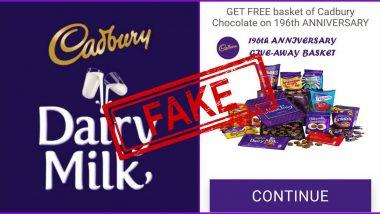 Fact Check: 196 व्या वर्धापनदिनानिमित्त कॅडबरी कंपनी प्रत्येकाला 500 चॉकलेट बास्केट्स फ्री देणार? व्हायरल होणाऱ्या या मेसेज मागील सत्य काय?