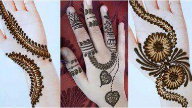 Simple Mehndi Designs For Eid 2020: रमजान ईद च्या निमित्ताने यंदा हाता-पायावर झटपट मेहंदी काढण्यासाठी आयडिया देतील हे लेटेस्ट ट्रेन्डस  (Watch Videos)