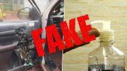 Fact Check: कार हिटमुळे हँड सॅनिटायझरचा स्फोट होतो? गाडीमध्ये सॅनिटायझर ठेवणे योग्य की अयोग्य? जाणून घ्या