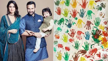 करीना ने सैफ अली खान आणि मुलगा तैमूरसह बनवले जबरदस्त आर्टवर्क, सोशल मिडियावर शेअर केला फोटो