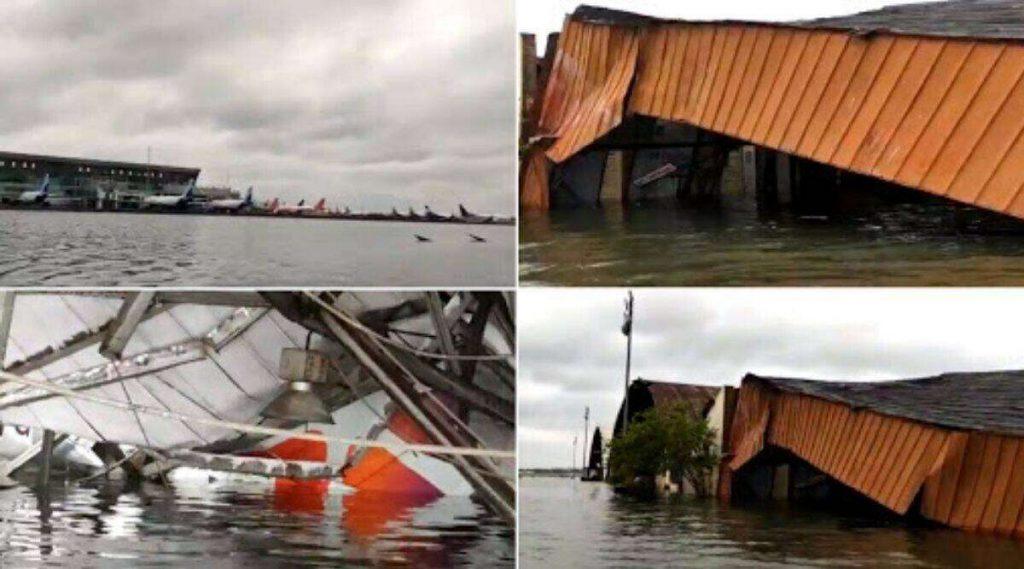 Cyclone Amphan: चक्रीवादळ 'अम्फान'चा कहर, कोलकाता विमानतळाचा एक भाग पाण्याखाली, पहा व्हिडिओ