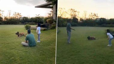 Lockdown: एमएस धोनी रांची फार्म हाऊसमध्ये मुलगी जिवा आणि कुत्र्यासोबत करतोय कॅचिंगचा सराव, पाहा Cute व्हिडिओ