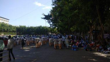 पुणे: काशीबाई नवले मेडिकल कॉलेज अॅन्ड जनरल हॉस्पिटलच्या मधील कर्मचाऱ्यांना गेल्या 6 महिन्याचा पगार न दिल्याने आंदोलन