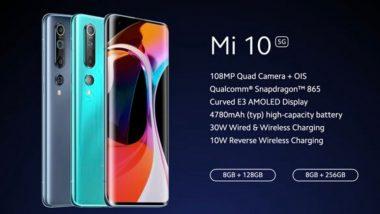 Xiaomi कंपनीने लॉन्च केला 108MP कॅमेरा असलेला Mi10 स्मार्टफोन, जाणून घ्या फिचर्स आणि किंमत