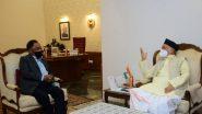 महाराष्ट्रात राष्ट्रपती राजवट लागू करण्याची भाजप नेते नारायण राणे यांची राज्यपाल भगत सिंग कोश्यारी यांच्याकडे मागणी