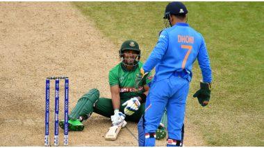 एमएस धोनीच्या चपळाईला जेव्हा बांग्लादेशी फलंदाजाने दिलीमात,सब्बीर रहमानने सांगितली2019 वर्ल्ड कपमधील रंजक कहाणी